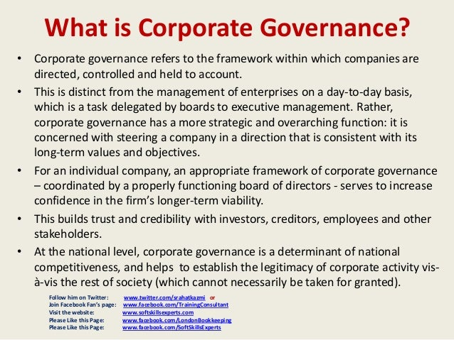 summarazation of code of corporate governance Page 3 of 49 corporate governance in australia what is corporate governance corporate governance is, the framework of rules, relationships, systems and processes.