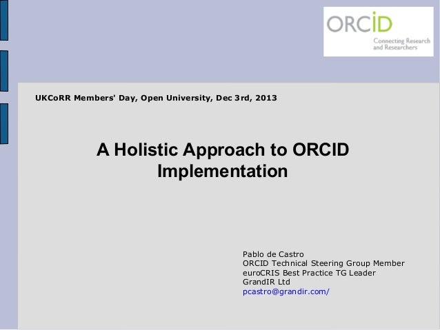 A Holistic Approach to Institutional ORCID Implementation