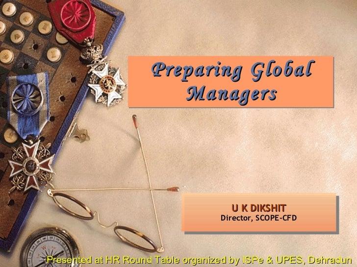 Preparing Global Managers