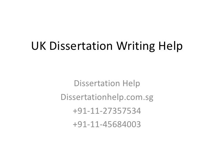 Dissertation Creation Uk