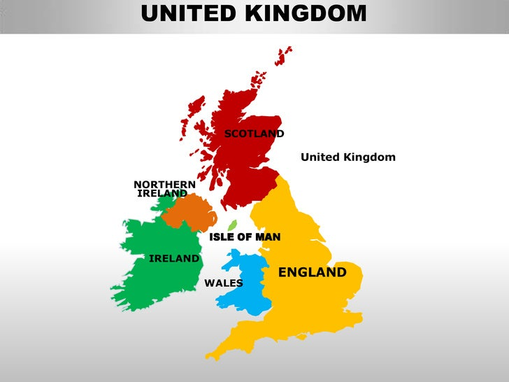 Uk england country editable powerpoint maps with states and counties