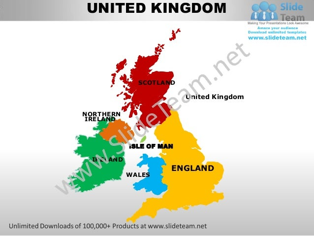 Uk england country editable powerpoint maps with states and counties templates