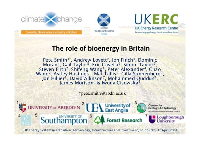 The role of bioenergy in Britain, Pete Smith, University of Aberdeen