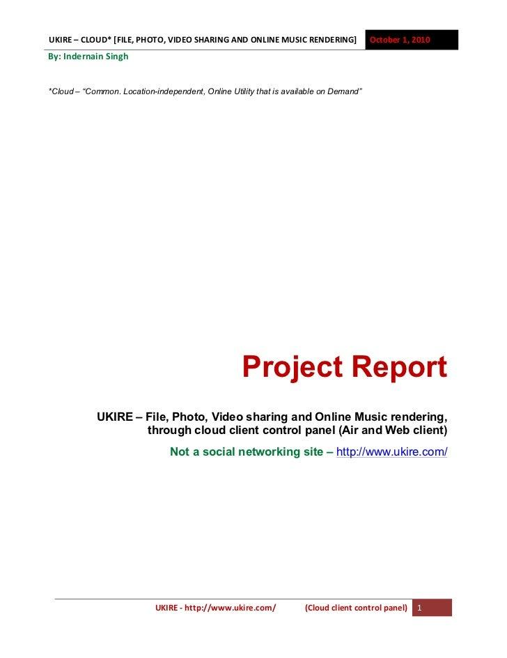 Ukire Project Plan