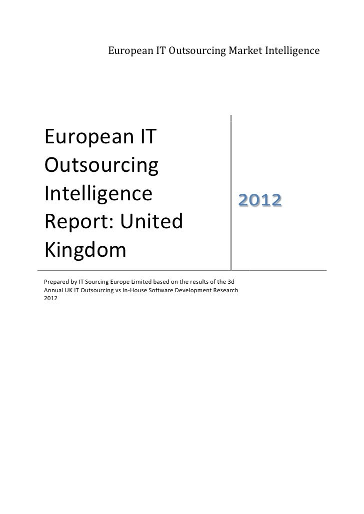 UK IT Outsourcing Intelligence Report 2012