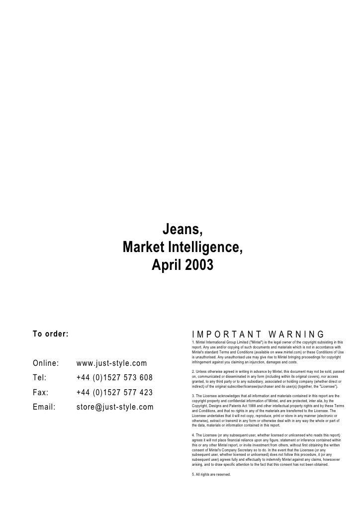 Uk  jeans market-sample