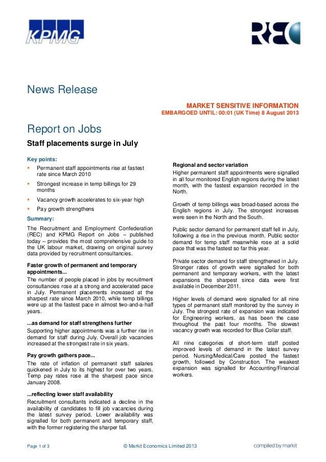 Page 1 of 3 © Markit Economics Limited 2013 News Release MARKET SENSITIVE INFORMATION EMBARGOED UNTIL: 00:01 (UK Time) 8 A...