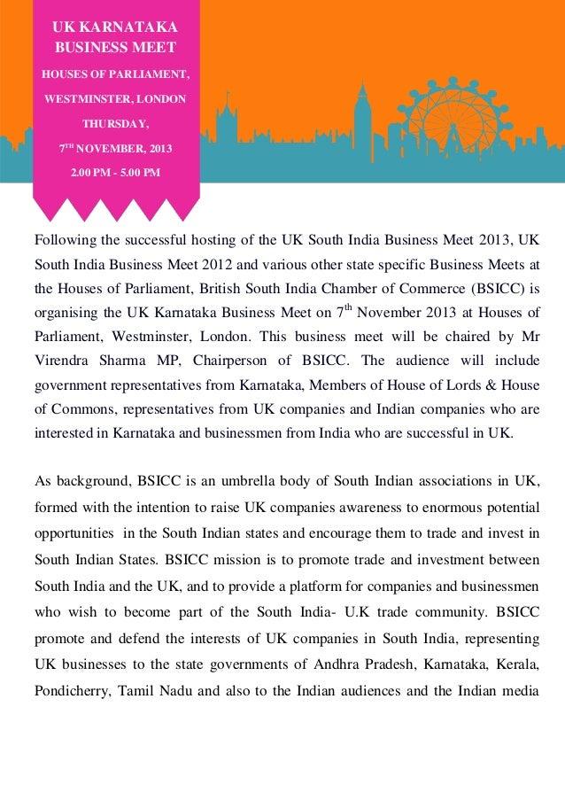 Uk karnataka business meet 2013