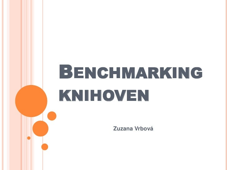 BENCHMARKINGKNIHOVEN    Zuzana Vrbová
