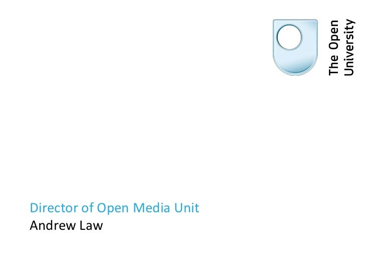 Director of Open Media Unit Andrew Law<br />