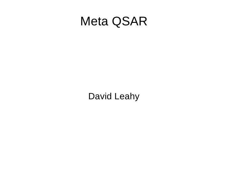 Meta QSAR