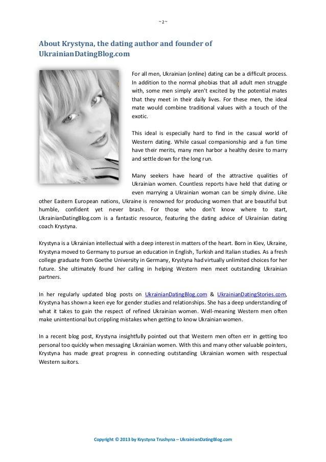 Dissertation on online dating