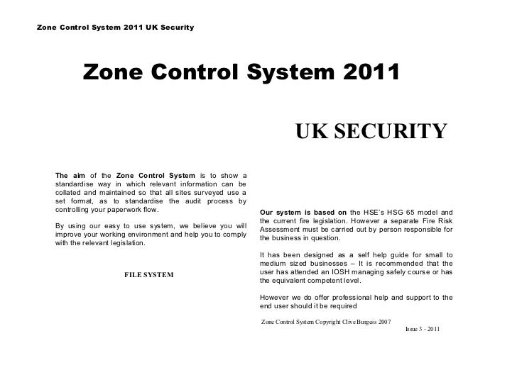 Zone Control System 2011 UK Security            Zone Control System 2011                                                  ...