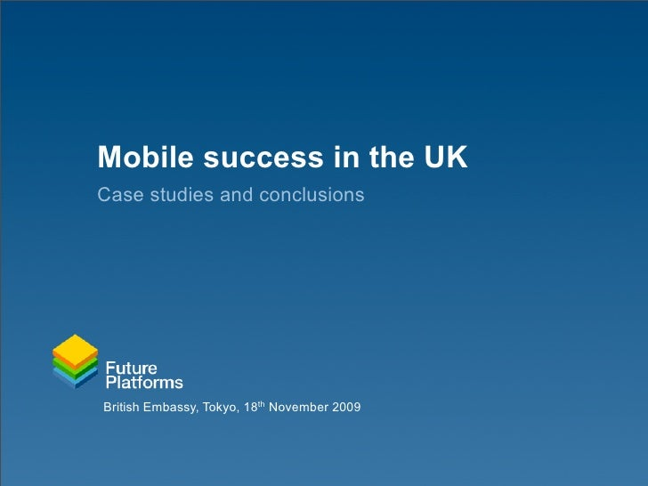 Mobile success in the UK