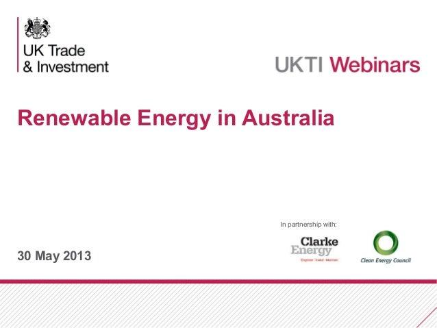 UKTI Webinar: Renewable Energy Presentation