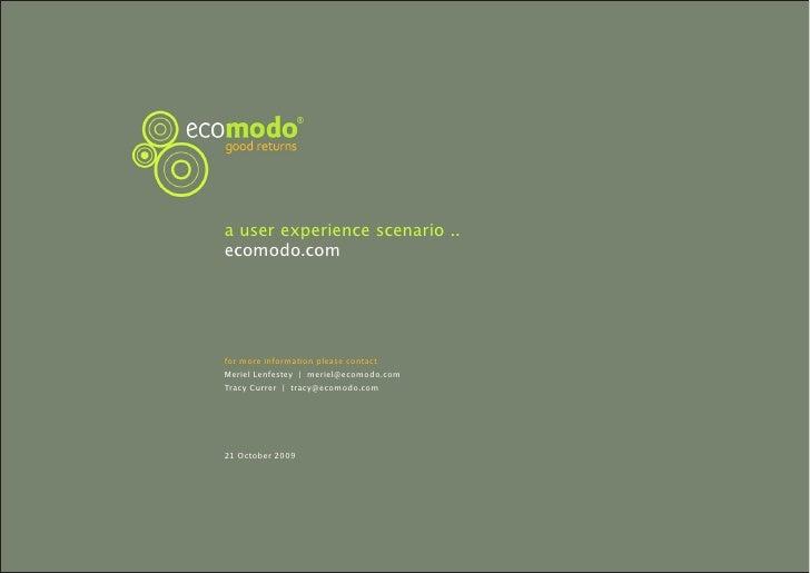 UKUPA WUD09 Meriel Lenfestey: Ecomodo Scenario