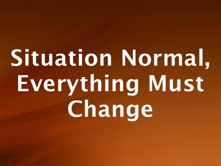 Situation Normal - UKUUG Mar'10
