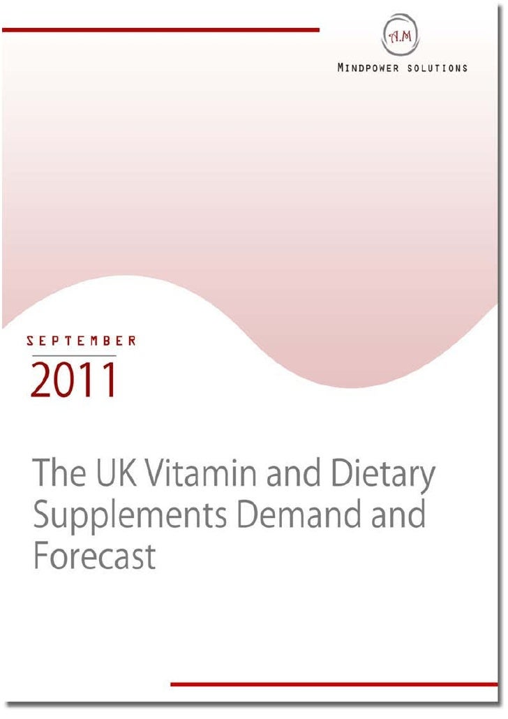 The UK Vitamin and Dietary Supplements Demand and Forecast
