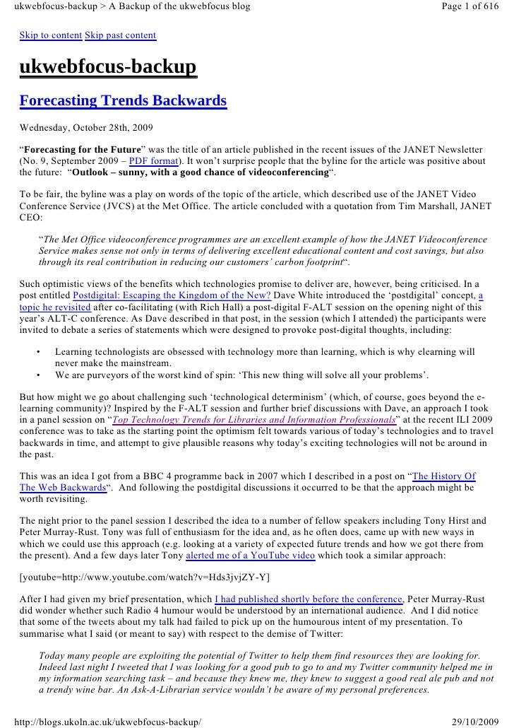 ukwebfocus-backup > A Backup of the ukwebfocus blog                                                      Page 1 of 616   S...