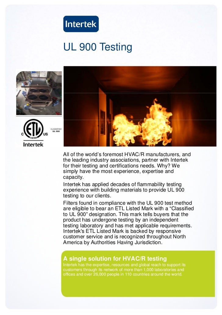 UL 900 TestingAll of the world's foremost HVAC/R manufacturers, andthe leading industry associations, partner with Interte...