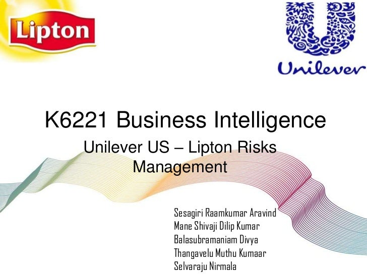 Unilever US Lipton Risks Management with BI