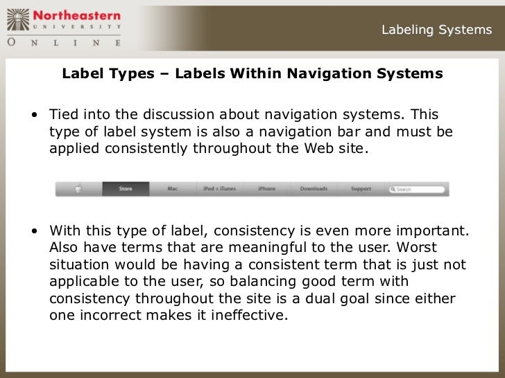 System Architecture Types Labeling Systems Label Types
