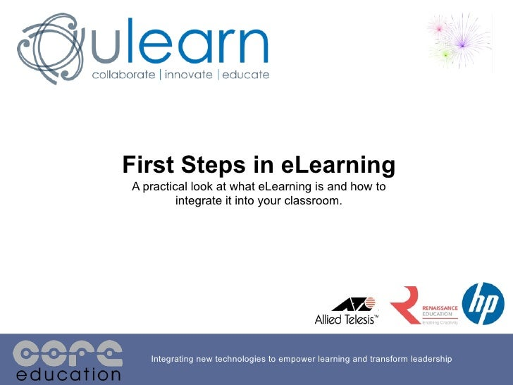 First steps in the eLearning Journey
