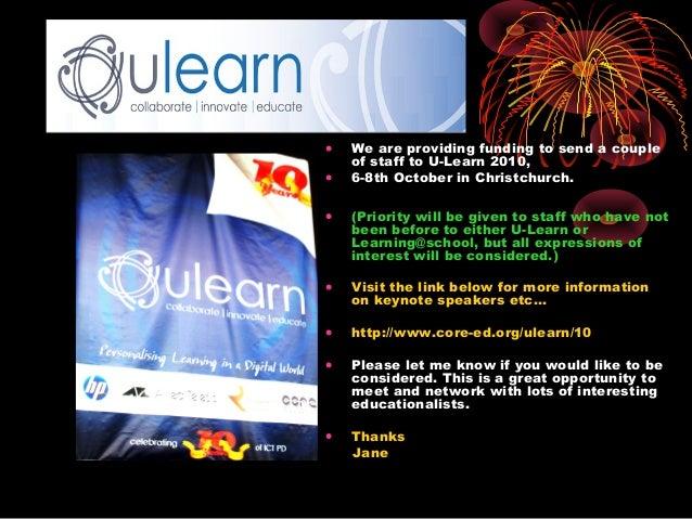 U learn 2010