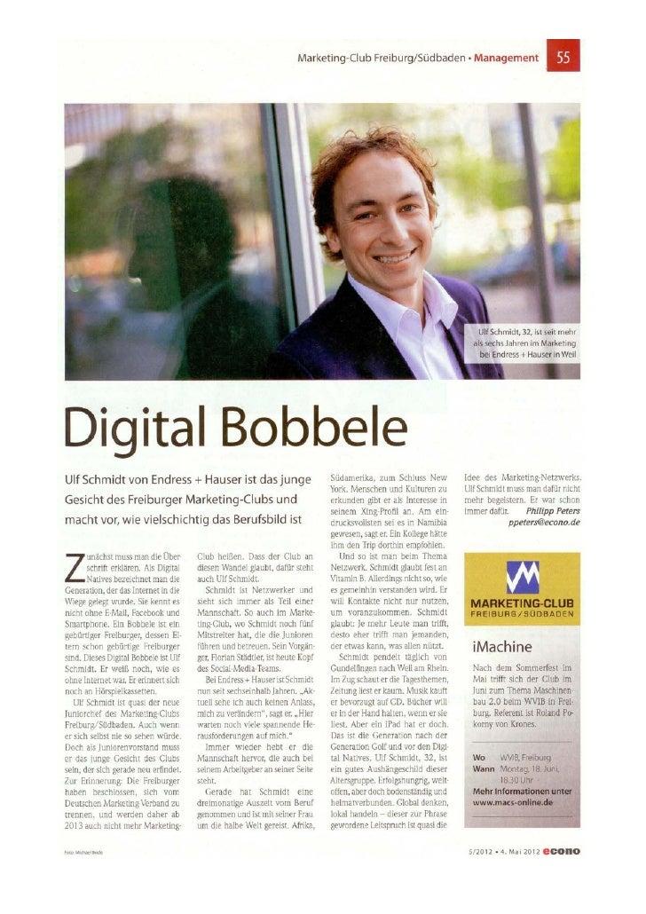 Ulf schmidt Digital Bobbele