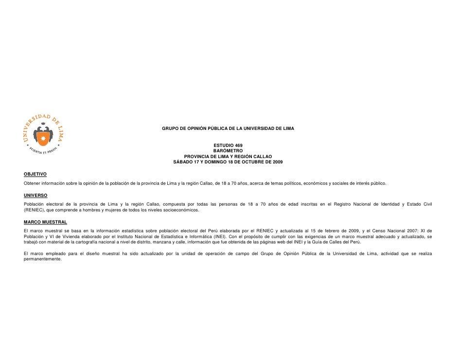 GRUPO DE OPINIÓN PÚBLICA DE LA UNIVERSIDAD DE LIMA                                                                        ...