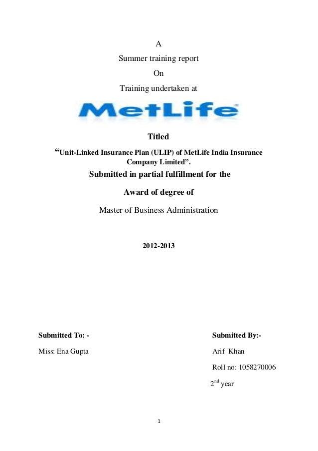 Ulip of meelife insurance