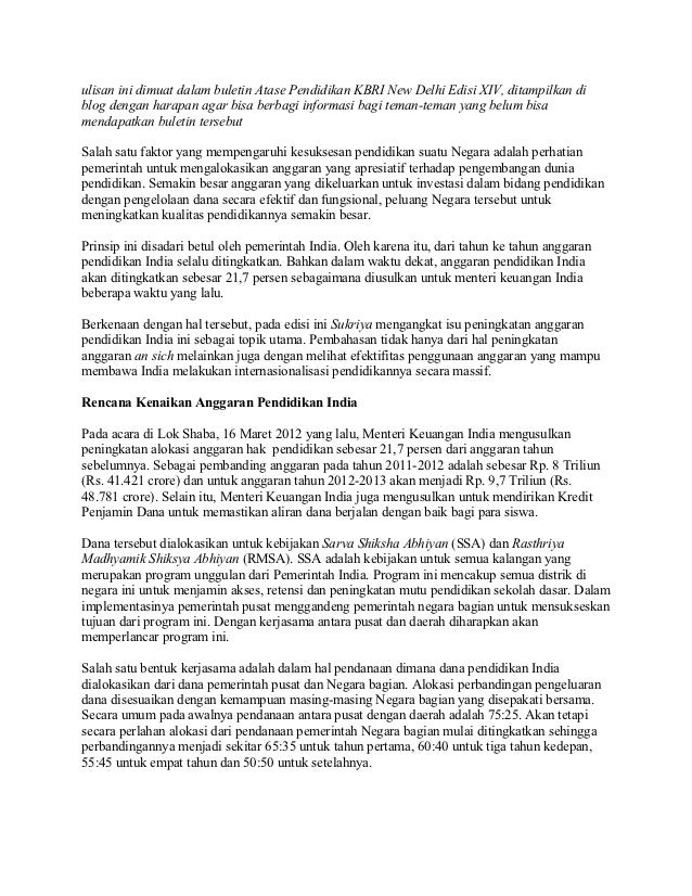ulisan ini dimuat dalam buletin Atase Pendidikan KBRI New Delhi Edisi XIV, ditampilkan diblog dengan harapan agar bisa ber...