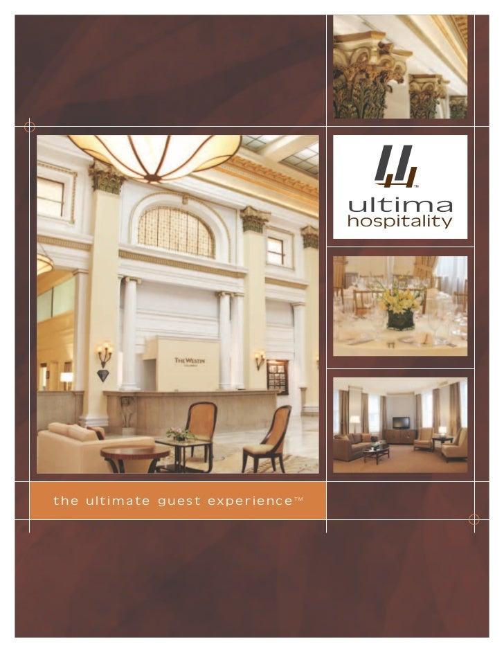 Ultima Hospitality Brochure
