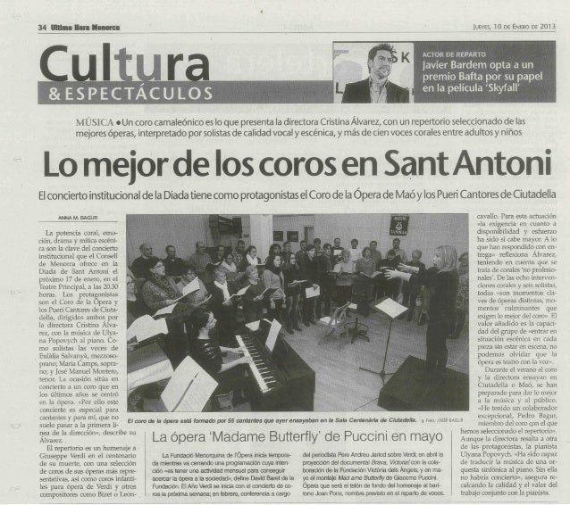 Concert Cor Amics de s'Opera de Mao