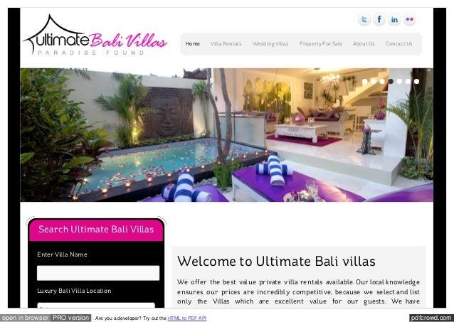 Ultimate bali villas