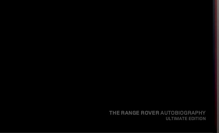 THE RANGE ROVER AUTOBIOGRAPHY                ULTIMATE EDITION