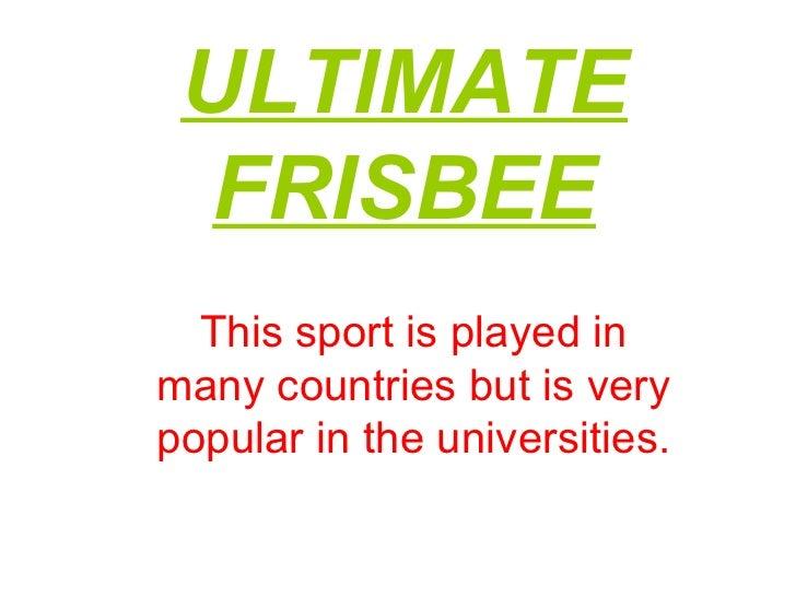 Ultimate frisbee nacho
