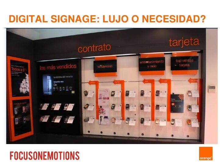 """Ultimate Media - Oportunidades de Negocio en el Digital Signage - Focus on Emotion  """"Caso Orange """"  Miquel Garcias"""