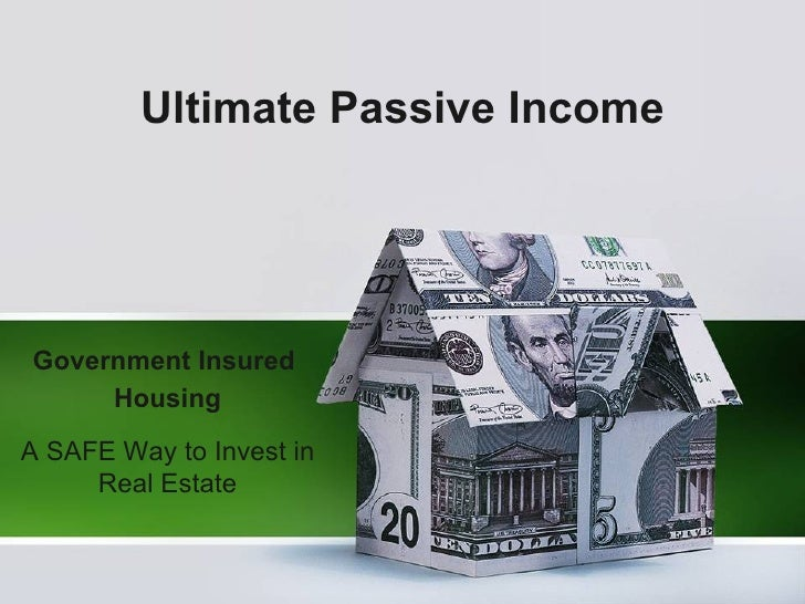 Ultimate Passive Income Government Insured  Housing A SAFE Way to Invest in Real Estate