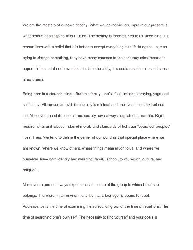 Sample essay reflection