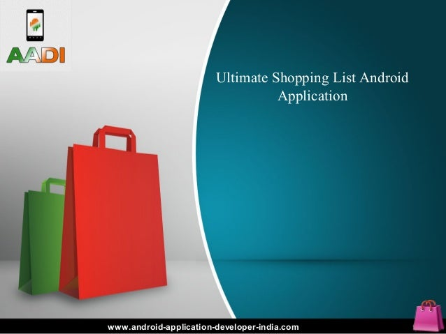 Ultimate Shopping List Android Application