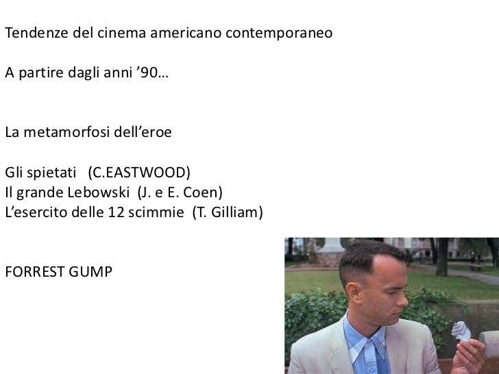 Tendenze del cinema americano contemporaneo<br />A partire dagli anni '90…<br />La metamorfosi dell'eroe<br />Gli spietati...