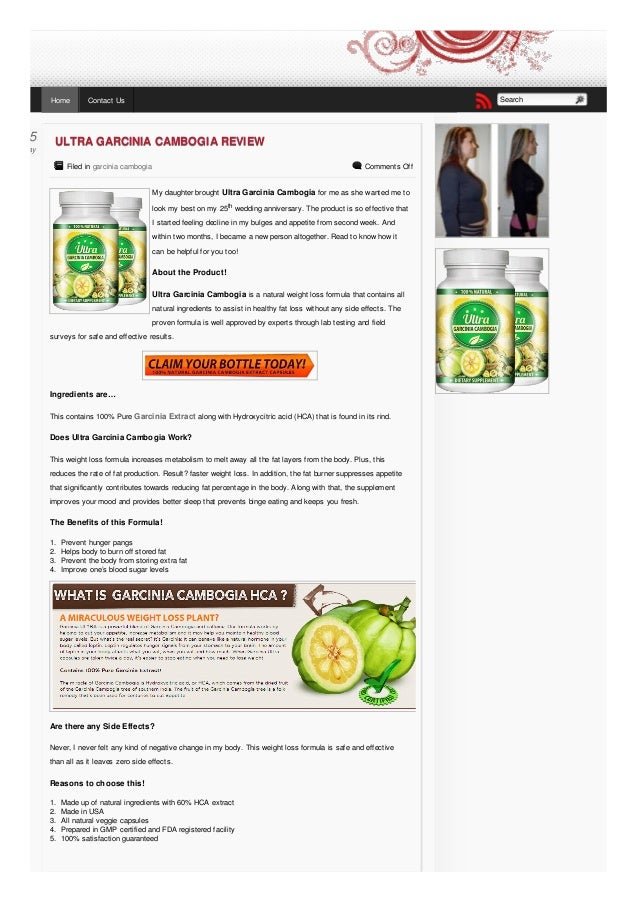 Garcinia Cambogia Dietary Supplement