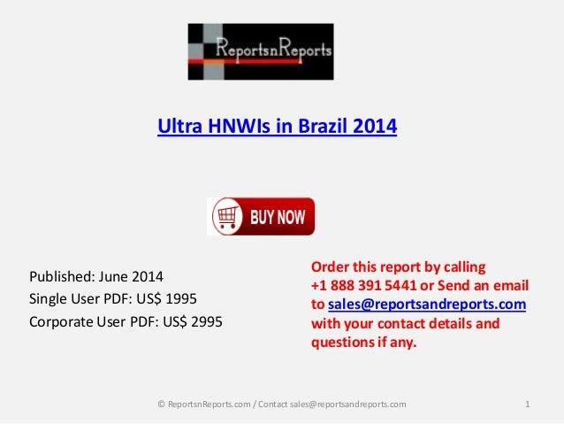 Ultra HNWIs in Brazil 2014