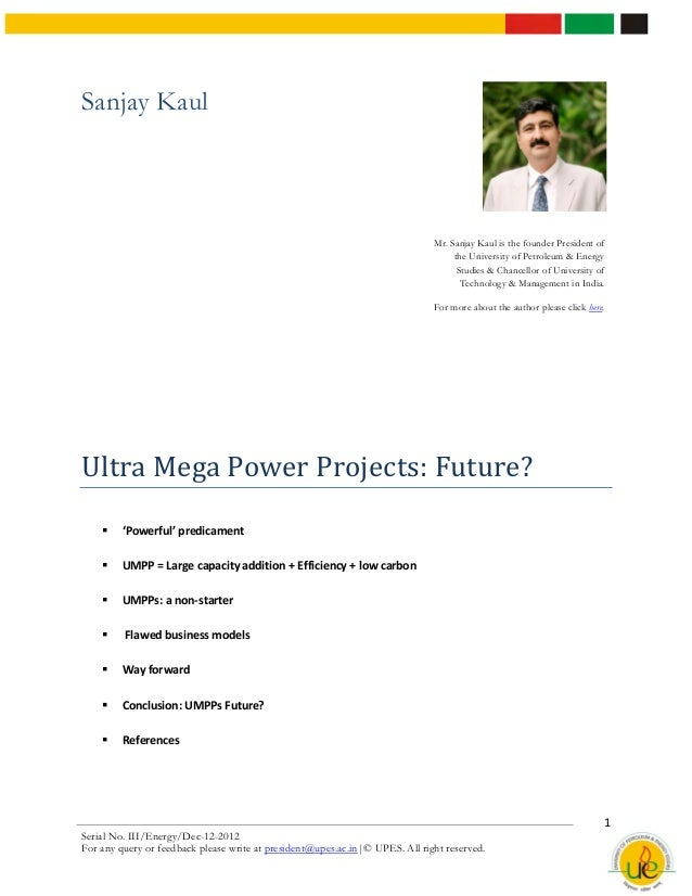 Ultra mega power plants  future