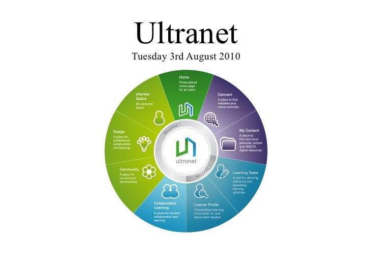 Ultranet                    Tuesday 3rd August 2010