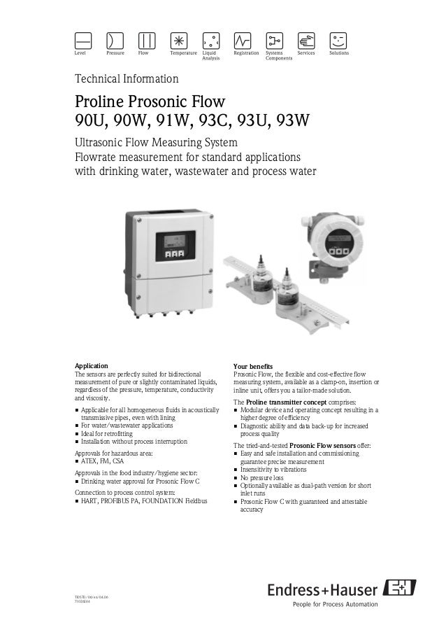 Ultrasonic flowmeter-Drinking water, wastewater and process water.