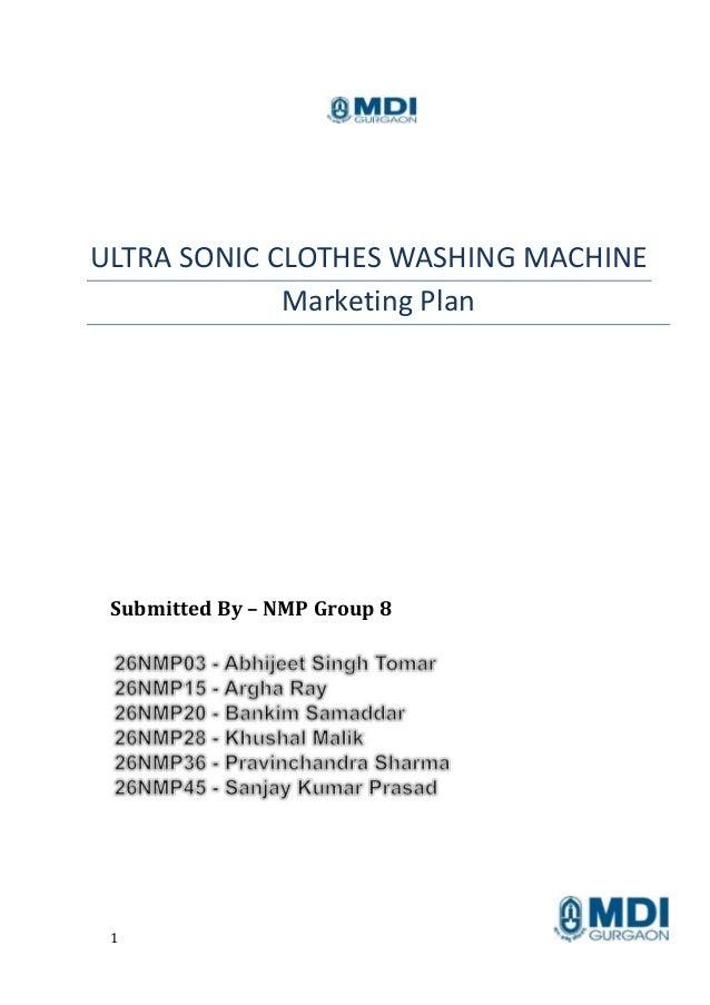 marketing plan essay for washing machines