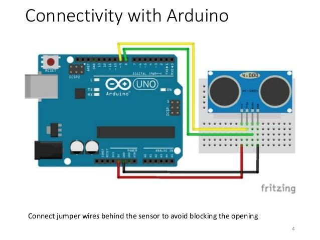 how to read ultrasonic sensror arduino 4 wires