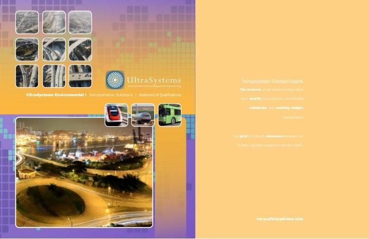 UltraSystems environmental | Transportation Solutions | Statement of QualificationsSolar Development –Statement of Qualifi...
